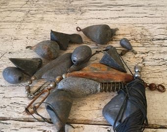 Lot of Vintage Fishing Weights - Instant Collection - Great for Assemblage