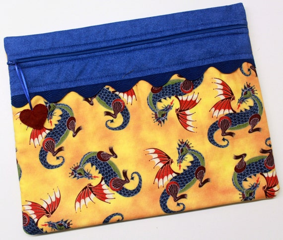 Bright Dragons Cross Stitch Embroidery Project Bag