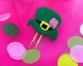 Leprechaun Top Hat Feltie Clip, Planner Clips, Bible Bookmark, Planner Accessories, Textbook Bookmark, Office Supplies, Bookmark