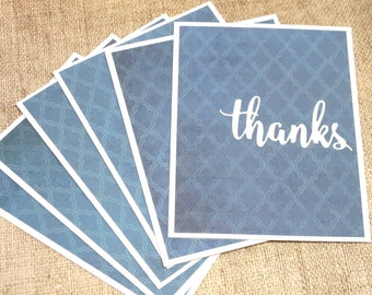Thanks Card Set- Thank You Card Set- Blank Thank You Notes- Note Cards- Stationery Thank You