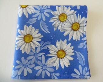 Blue Foral Handkerchief Ladies Handkerchief Blue and white daisies something blue hankie ladies hankie, Ladies Hankie Handmade