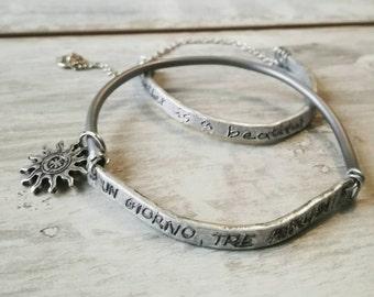 Boho bangle, bangle bracelet, boho jewelry, dedicate bracelet, name bracelet