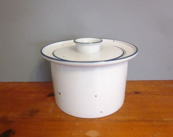 Vintage Dansk Blue Mist covered casserole dish, stoneware, Made in Denmark