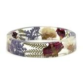 Red Flower Bracelet- Rose Bangle- White Flower Jewelry-  Bracelet- Resin Jewelry- Flower Resin Jewelry- Flower Bangle- Red Resin Bracelet