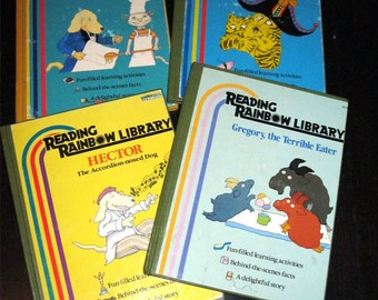 1987 Reading Rainbow Library/Hector/Animal Cafe/Gregory The Terrible Eater/The Banza
