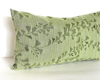 Lumbar Pillow Cover Green Pillow Cover Celery Green Floral Throw Pillow Cover Oblong Decorative Pillow 12x24 12x21 12x18 12x16 10x20