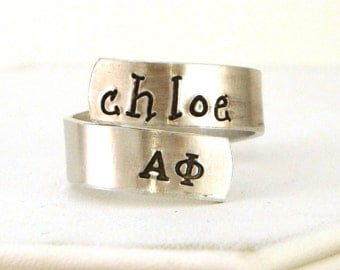 Alpha Phi Wrap Ring - Alpha Phi Official Licensed Product