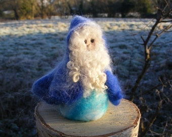 Winter Gnome 'Freeze' - Needle Felted in the Waldorf style
