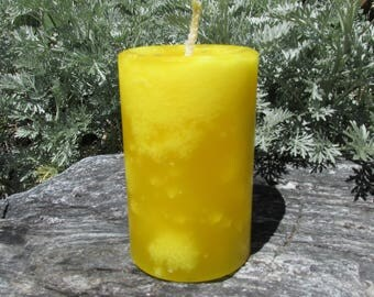 Unscented Yellow Pillar and Votive Candles