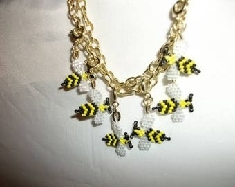 Bee Top View Charms