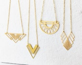 Gold Geometric Necklace - Minimalist Necklace, Modern Geometric Jewellery, Gold Necklace, Geometric Necklace, Minimalist Jewellery,