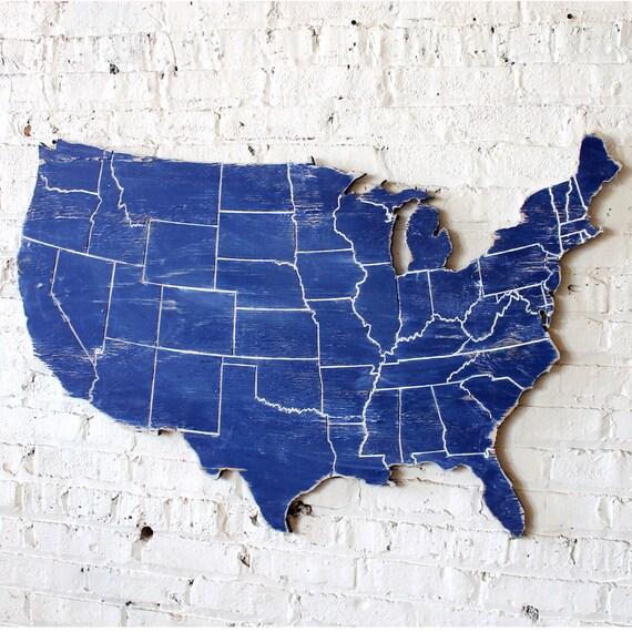 US Map Push Pin Map MLB US Map Wooden Travel Map Wall Art - Mlb us map