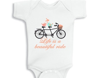 Life is a Beautiful Ride Baby Girl Bodysuit