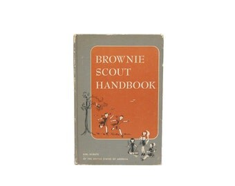 1955 Brownie Scout Handbook 50s Vintage Girl Scouts USA Midcentury Culture Life in the 50s GSUSA Guide