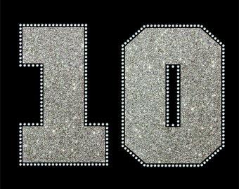 Glitter and Rhinestone number add-on