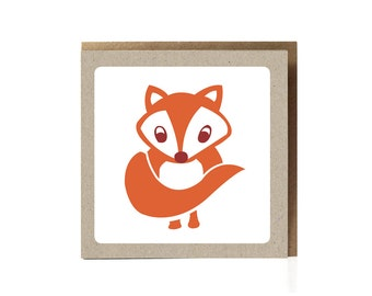 Fox Greeting Card / Fox Illustration / Woodland Fox / Woodland Animal / Kids Cards / Cards For Children / Whimsical / Woodland Baby Shower