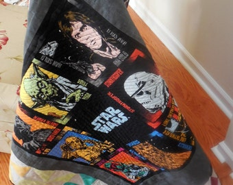 Star Wars Baby or Lap Quilt- Free Shipping to  48 US States and Canada