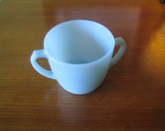 Vintage Blue Fire King Sugar Cup