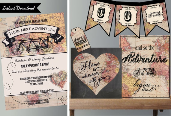 Neutral baby shower invitations rustic bicycle neutral baby il570xn filmwisefo