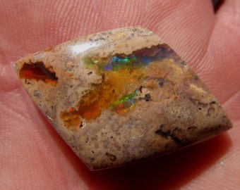 35 x 22 mm Colorful Mexican Opal Cabochon - 33.7 ct