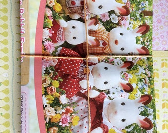 Handmade envelope bundle made from a recycled Sylvanian Families magazines (10 C6 envelopes per bundle) ideal for letter writers and penpals