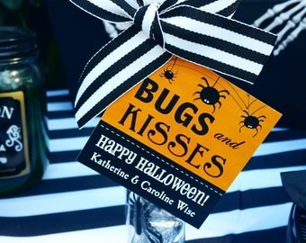 Personalized Bugs and Kisses Printable with Pink - ANY Wording - Printable or Printed with FREE SHIPPING