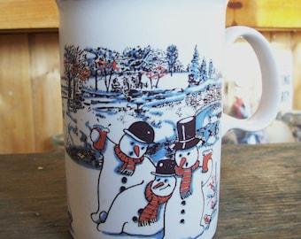 Dunoon snowman mug, coffee or tea mug