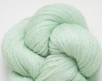 Light Mint Heather Recycled Merino Lace Weight Yarn, MER00232