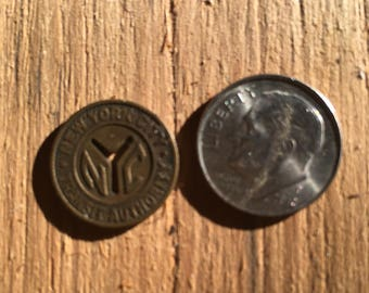 Vintage NY youth bus token