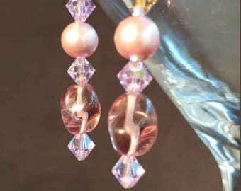 EA002386 Pastel Purple Short Dangle Earrings from the Kendra Line