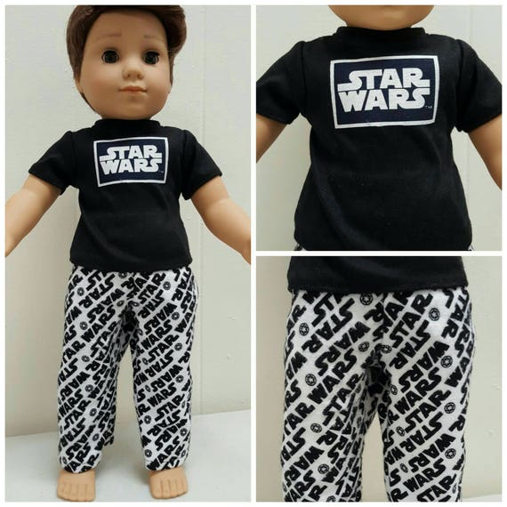 Star Wars PJ'S for Logan. 18 Inch Doll American Handmade