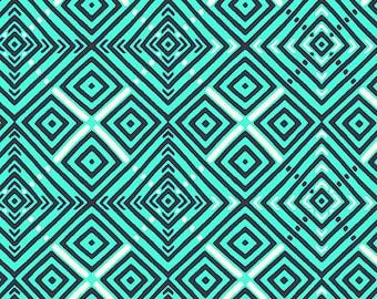 Town Centre - AZURE - PER 25CM - Amy Butler - VIOLETTE - PWAB144 - 100% Cotton Quilt Fabric