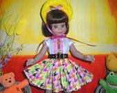 """Fits 14"""" Betsy McCall Tonner Doll . Black Leather-Look Belt w/Buckle .D1156"""