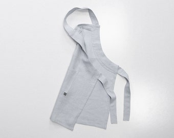 Dove grey kids apron, Light grey apron for children, Gender neutral apron, Girls apron, Boys aprons, Toddler apron