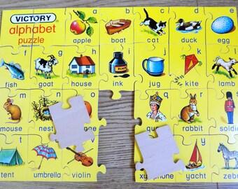 Vintage Alphabet Puzzle