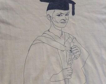 1980's Lying on Curriculum Vitae t shirt USA medium