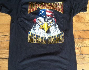 Vintage All American Freedom Fighter t shirt