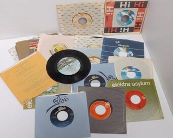 Vinyl records 45's Country Western lot of 16 George Strait Charlie Daniels Oak Ridge Boys Brenda Lee