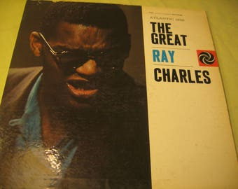 The Great Ray Charles Alantic  1259  LP vintage 60s Vinyl Record