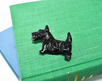 Vintage Scotty Dog Brooch - Scottish Terrier Pin