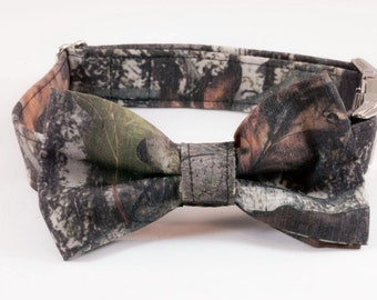 Camo Dog Bow Tie Dog Collar, Camouflage Dog Bow Tie Collar, Dog Bowtie Collar, Southern Dog Collar, Hunting Dog Collar, Custom Dog Collar