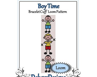 Bead Pattern Loom(Bracelet Cuff)-Boy Time