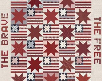 Land Of The Free Home Of The Brave Quilt Pattern by Primitive Gatherings, PRI-561, Patriotic New Pattern