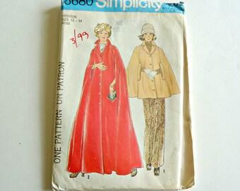 Simplicity 6680 Misses' Cape Sewing Pattern Size 12  14 Uncut