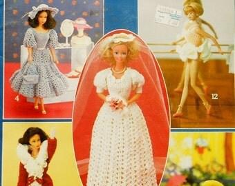 50%OFF Rare Leisure Arts Crocheted FASHION DOLL Clothes - Crochet Doll Clothes Clothing Patterns