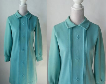 Vintage 1960s Aqua Blue Double Knit Mod Dress by Bleeker Street