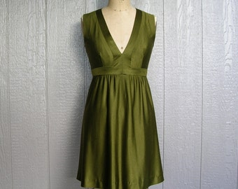 Vintage 70s Mini Dress EARTH SHATTERING GREEN