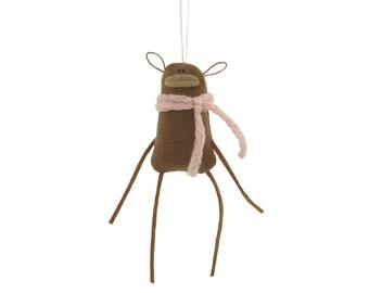 Monkey Plush Ornament, Monkey Wall Art, Tiny Plush Monkey Hanging Ornament, Monkey Hanging Decoration, Valentine Gift for Animal Lover