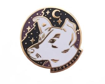 Laika Space Dog Enamel Pin