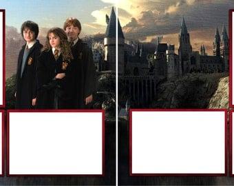 Harry Potter Hogwarts Digital Scrapbook Quick Pages - INSTANT DOWNLOAD